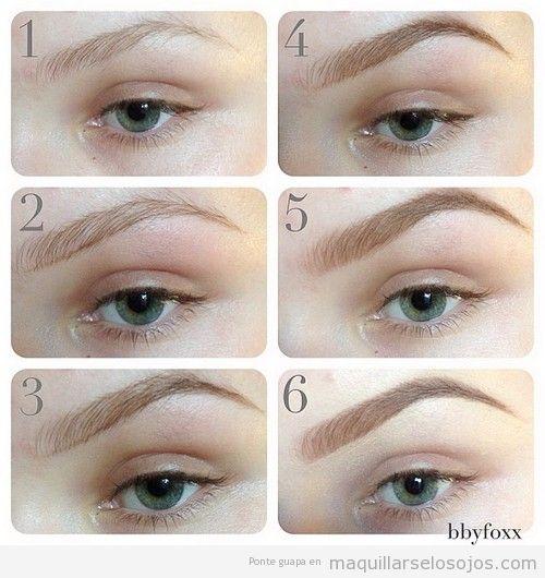 tutorial paso a paso para maquillar cejas