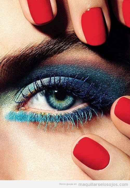 Maquillaje de ojos en tonos azules, Chanel Verano 2013
