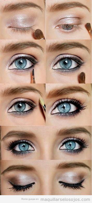 Tutorial Maquillaje Ojos Azules Ahumado Negro - Maquillaje-negro