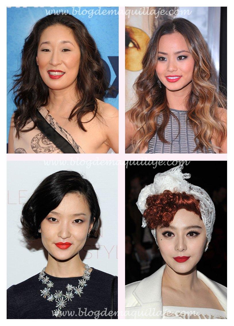 Cuatro ejemplos de como llevar un labial rojo si eres de origen asiático